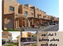 للايجار فيلا سكنية منطقة ( الريف 2) زاوية وشارعين  3 غرف نوم