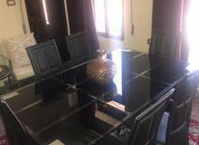 طاولة سفرة 6 مقاعد