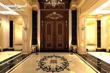 قصر فخم جداااااا في دابوق (الأردن) مساحة البناء :2800م والأرض : 2000م