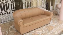 كنبات جلدية 3+2+1+1 للبيع جديدة لم تستخدم New non used Sofa