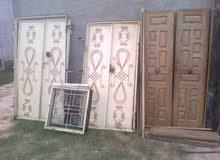 أبواب لوح + أبواب حديد + نوافد مستعمل للبيع