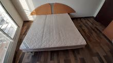 King size bed with mattress orthopedic comfort