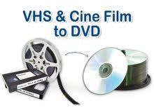 مستعدون لتحويل اشرطة الفيديو القديمة الى اقراص او على الهارد