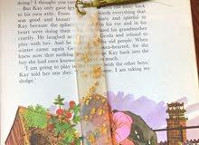 Medium Gold Resin Bookmark