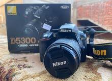 كاميرا نيكون D5300 AF-P مع عدسة 55 - 18 ملم 3.5-5.6G، بدقة 24 بكسل