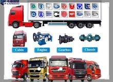 قطع غيار جميع أنواع الشاحنات الصينيه