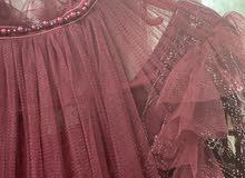 فستان عنابي + فستان وردي
