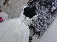 فستان زفاف ناعم وانيق للايجار او البيع بسعر رخيص ومناسب