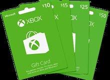 xbox gift card كروت اكس بوكس