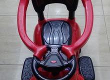 سيارات اطفال تسوق دفع  باليد مع حوض امان