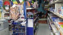 محل قرطاسية للبيع مع البضاعة والرخصة