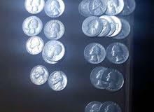 ربع دولار أمريكي تواريخ مختلفة وسنتات بتواريخ مختلفه