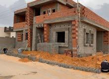 فيلا سكنية ممتازة دور ارضي وملحق على واجهتين في خلة الفرجان مرحلة الهيكل كزيوني