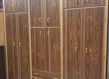 عرض خاص خزانة6درف طابقين خشب لاتيه 18م بسعر 199 دينار فقط   رفوف الخزانة لاتيه