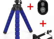 قاعدة عنكبوتية للتصوير بالهاتف مع جهاز تحكم قابلة للتمديد والثني