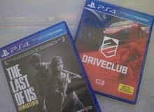 شريطين للبيع ل PS4