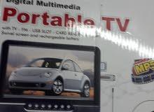 شاشة 9بوصة وتلفاز بحالة ممتازة استعمال خفيف جدا