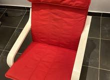 كرسي احمر من ايكيا