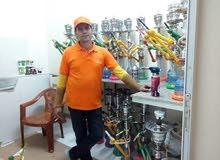 معلم شيشه العمل في الكافيهات والفنادق