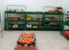 يحدد راتب بعد المقابله  محل بيع الفواكه والخضروات وتوابل