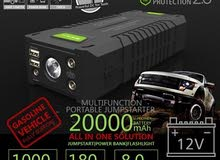 Multi-function portable jump-starter  2000Mah. 1000A, 180W for DC tools