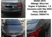 Hyundai accent Model: 2016Mileage