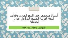 أستاذ متخصص في تدريس النحو العربي وقواعد اللغة العربية لجميع المراحل حتى الجامعة