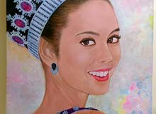Oil Painting on Canvas Miss World 2013 Megan Young