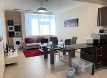 للبيع شقة غرفتين مجهزة بالكامل في برج راقي بمنطقة الجفير