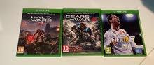 العاب Xbox one للبيع (fifa18)(gears of war 4)(halo wars 2)