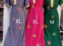 قماش قطن تركي كامل قطعه مطرز جديد السعر 4ريال  مقاسات M .L.XL.XXL