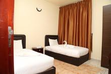 غرفتين وصاله نظام فندقي للايجار الشهري في عجمان علي كورنيش عجمان