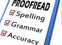 Proofreadingالمراجعة اللغوية للبحوث العلمية باللغة الانجليزية
