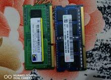 2 رام لابتوب DDR3/4GB/2GB للبيع