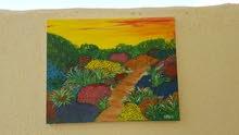 لوحة مرسومه بالوان الاكليريك