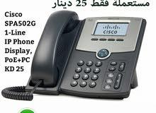للبيع تلفونات مستعملة ماركة Cisco SPA502G IP Telephony تعمل على الأنترنت