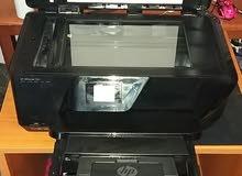 ظابعة HP -OFFCE JET 7510 شبة جديدة حبرها جديد سعر في محلات بي 160د ملونة و عادية وفيها نظام تصوير