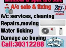 Window or split a/c sale and services