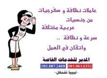 سفرجيات و عاملات نظافة من جنسيات عربية مختلفة
