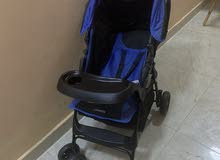 عربة أطفال (زرقاء) جديده ماركة جونيورز
