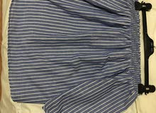 Off the shoulder blue and white stripped top from ONLY. New top.