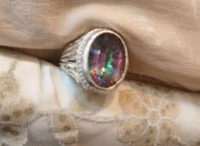 natural mistic rainbow quartz stone ring for sell