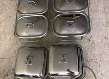 10 Serving Plates with candle holders under yo keep warm !!