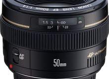 عدسة Canon 50mm f/1.4