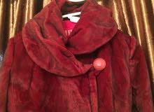 معطف موهير شبه جديد ملبوس مرتين فقط