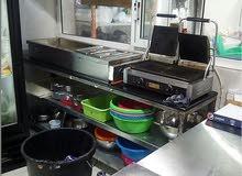للايجار أو البيع بالاقساط مطعم مجهز للعيش وغيره