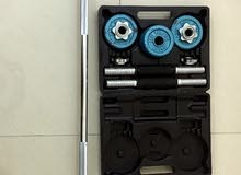 18 kg Dumbbell set & Straight Solid bar with Box (Gym Equipment)