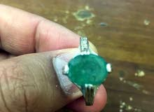 خاتم زمرد اصلي طبيعي هندي