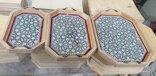 طقم صواني تقديم 3 قطع صدف