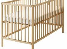 سرير اطفال خشب